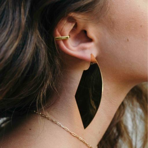 Shield Earrings   XL - Gold - Flash Jewellery