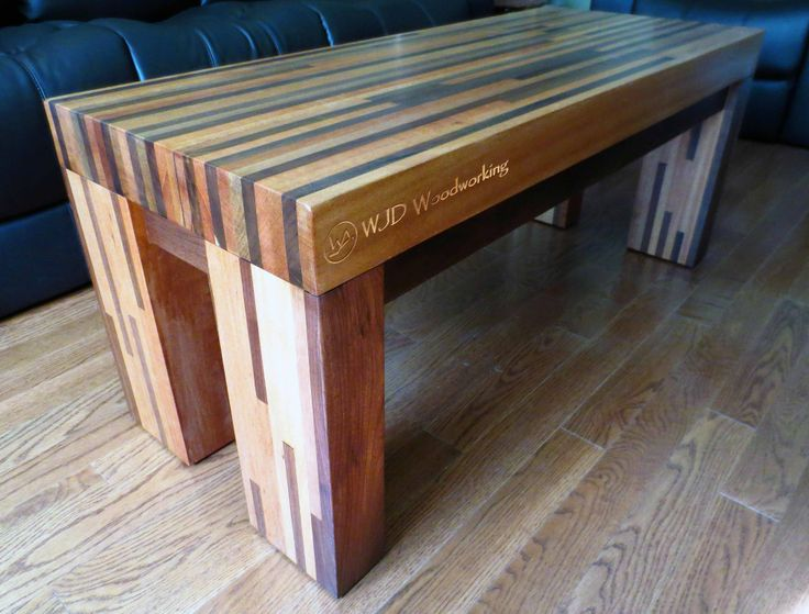 Black Walnut and Mahogany Butcher Block style coffee table