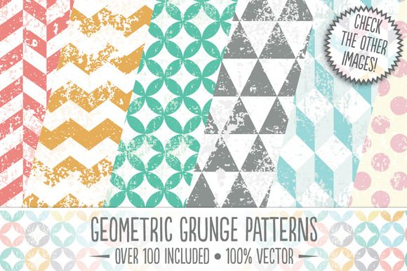 Check out Geometric Grunge Patterns by The Artifex Forge on Creative Market