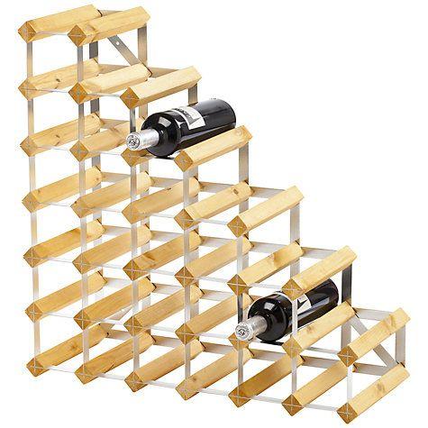 Buy Traditional Wine Rack Co. Redwood Wine Rack, 24 Bottle, Light Oak Online at johnlewis.com