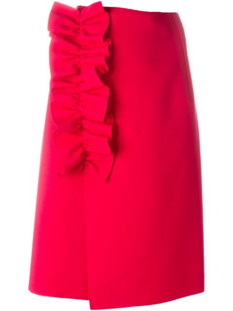 Shop MSGM ruffle detail skirt in Aquerreta from the world's best independent boutiques at farfetch.com. Shop 400 boutiques at one address.