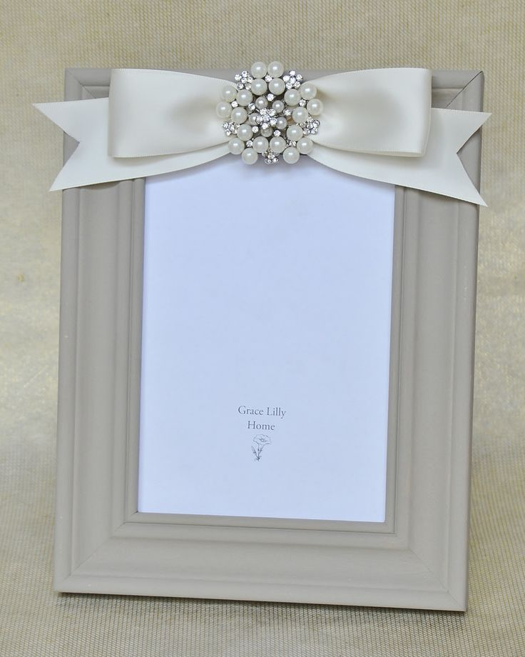 Embellished Picture Frame with Bow by GraceLillyHome on Etsy, $42.00