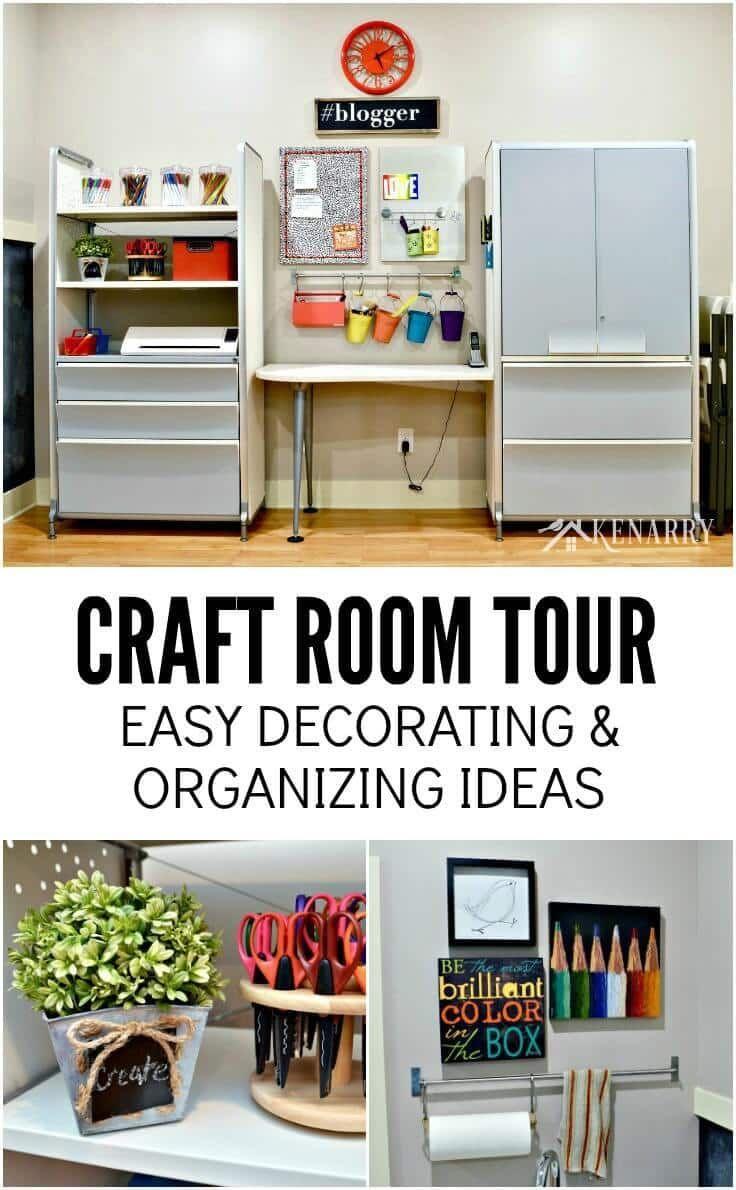 Craft Room Tour Decorating And Organizing Ideas Easy Home Organization Home Decor Inspiration Home Decor