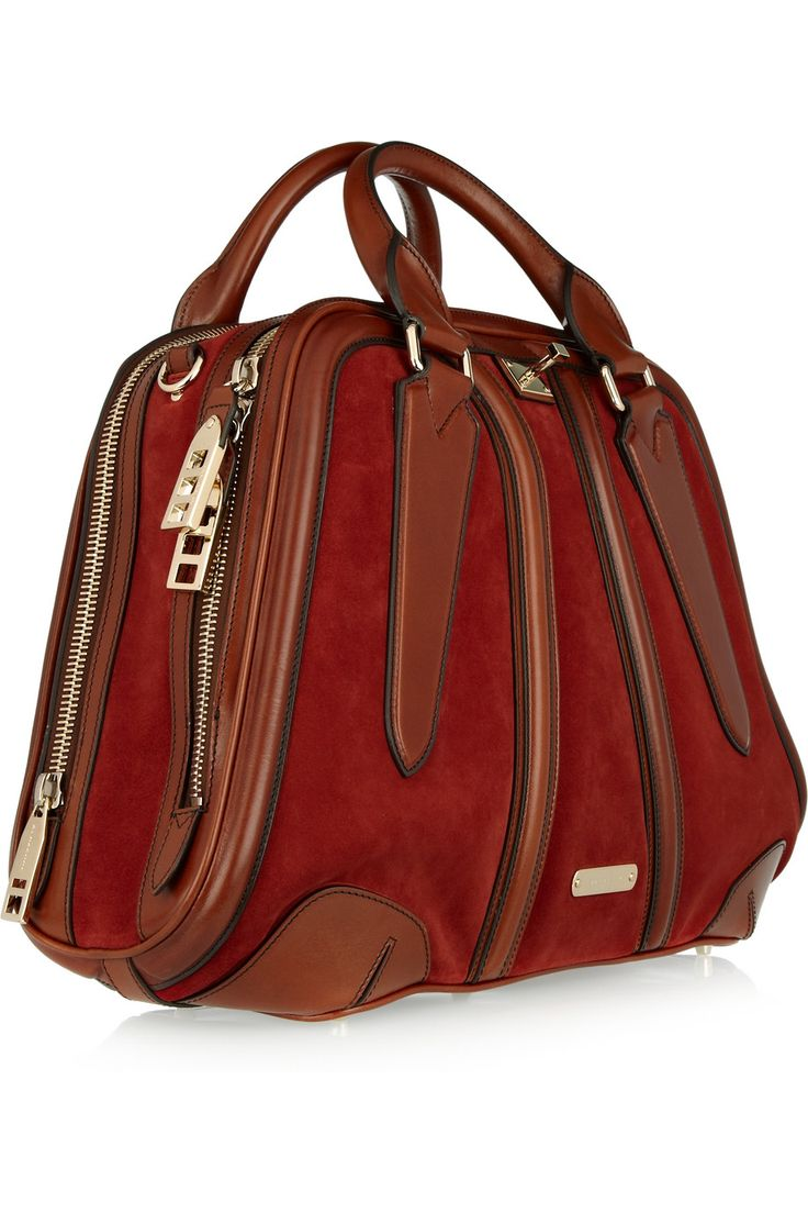 Burberry suede bowling bag-SR