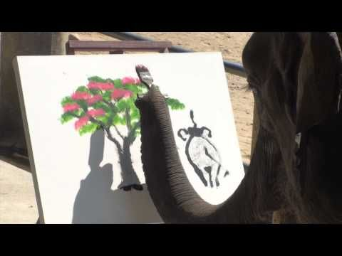 Elephants Painting: Genuine elephant Paintings - YouTube