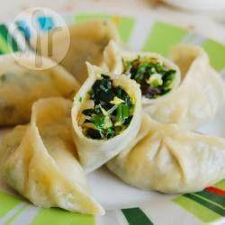 Steamed Spinach Dumplings
