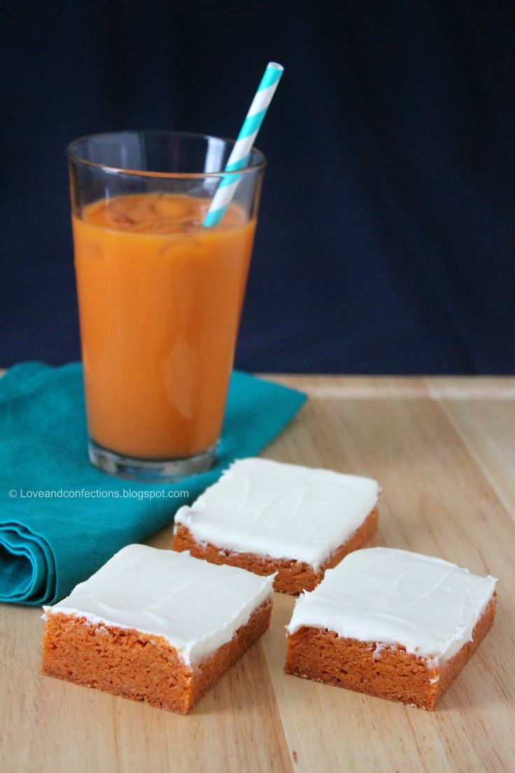 Love And Confections Thai Tea Blondies With Sweetened Condensed Milk Frosting Fwcon