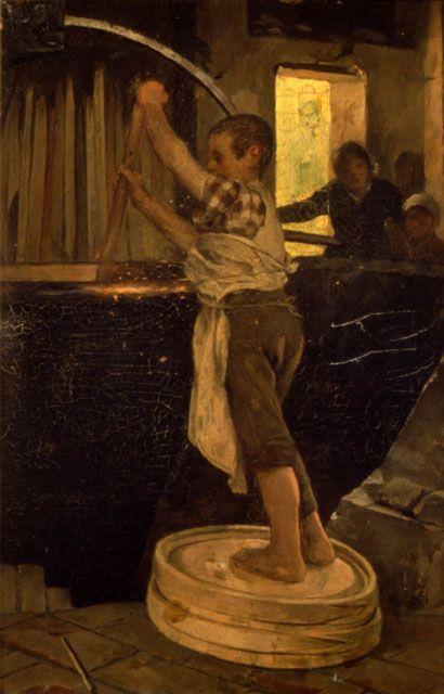 """Cirillo Manicardi / """"Nel casello"""" / Olio su tela, cm.30 x 20 / Piano 1 - Galleria Fontanesi"""