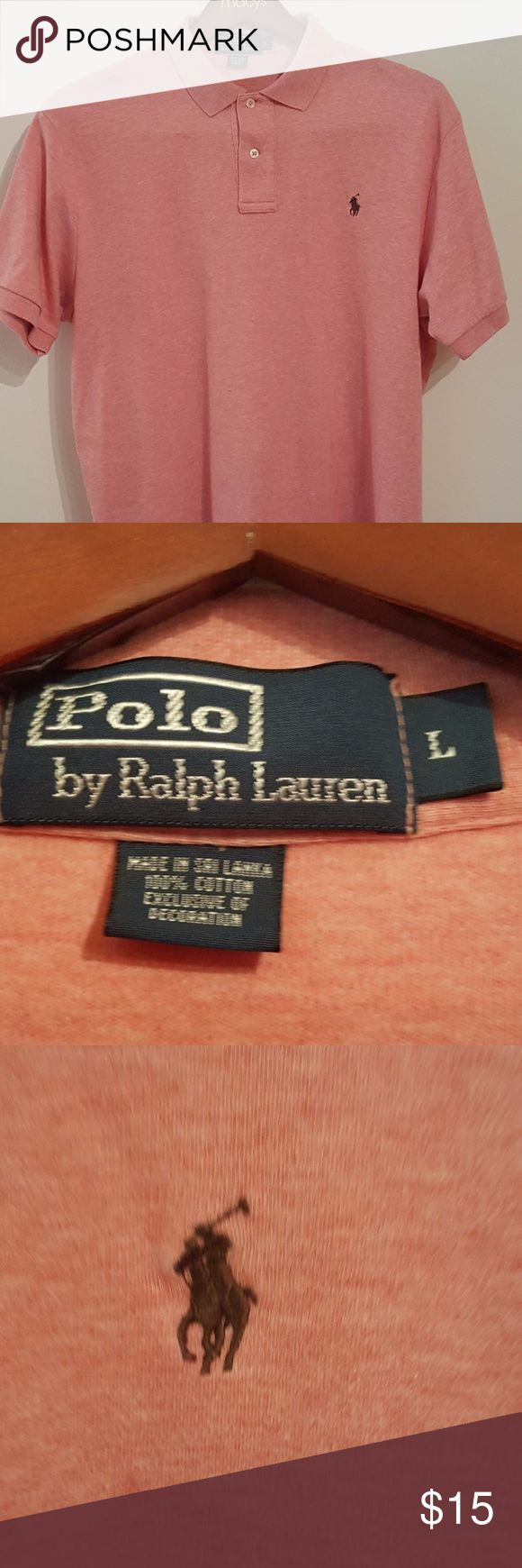 Men Polo Ralph Lauren SOFT TOUCH Interlock Polo Sh Men Polo Ralph Lauren SOFT TOUCH Interlock Polo Shirt L STANDARD FIT  Brown Pony Emblem at the left chest Classic Fit: Roomiest silhouette.  Ribbed Polo collar. Two-button placket. Short sleeves with ribbed armbands. Tennis tail. 100% cotton. Machine washable. Imported. Polo by Ralph Lauren Shirts Polos
