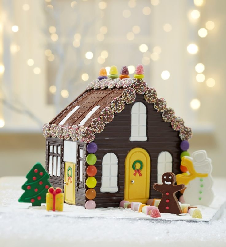 How to Make a Chocolate House #christmas #baking #chocolate #ChocolateHouse…