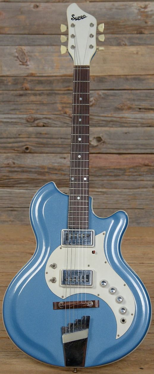 1965 SUPRO TREMO-LECTRIC BLUE --- https://www.pinterest.com/lardyfatboy/