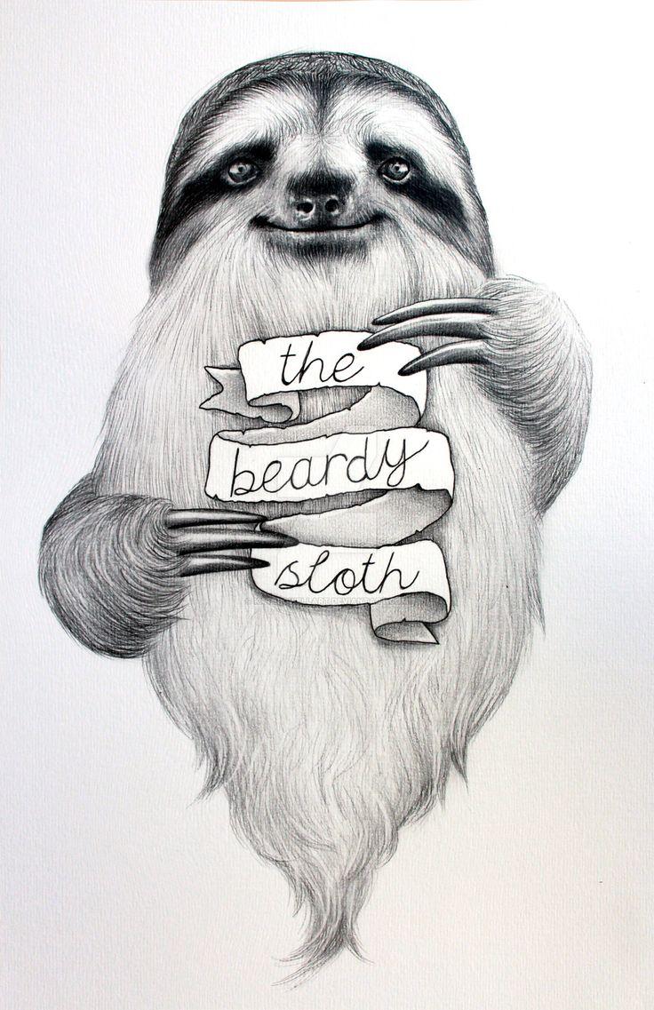 how to draw cartoon sloth