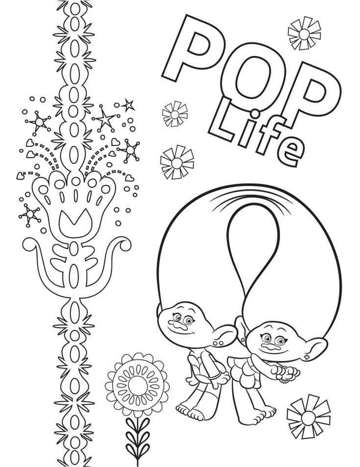 Trolls World Tour Coloring Pages Coloring Pages Cartoon Coloring Pages Paw Patrol Coloring