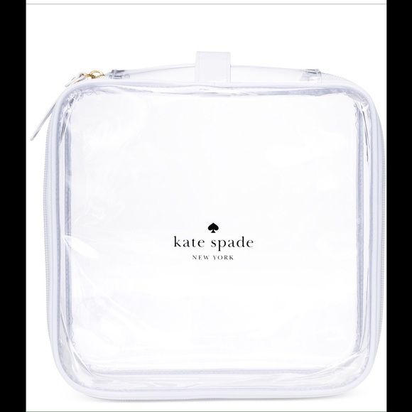 "Shop Women's KATE SPADE size OS Cosmetic Bags & Cases at a discounted price at Poshmark. Description: Brand new Kate Spade clear toiletry bag. Small clear bag is perfect for carrying toiletry items or makeup for travel or use it alone as a clear purse. Also great as a TSA travel bag. About 8"" length around and about 3""depth.. Sold by tnb614. Fast delivery, full service customer support."
