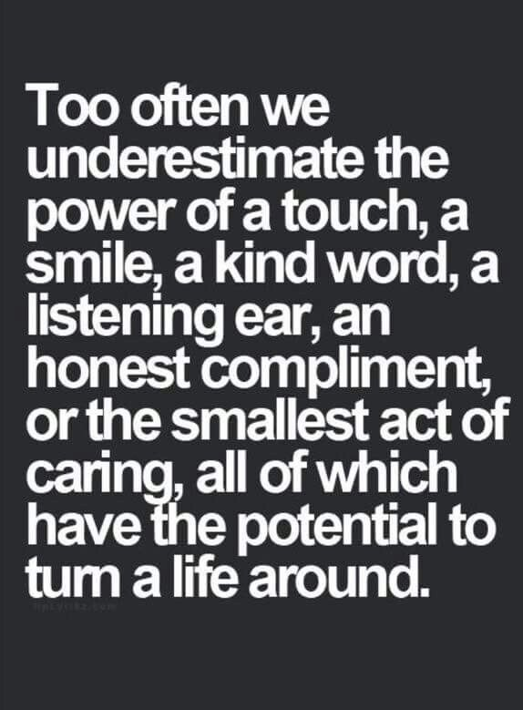 Small things = big actions