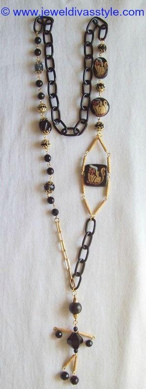 JDS - JEWEL DIVAS ROBOT NECKLACE - http://jeweldivasstyle.com/my-personal-collection-black-jewellery-13/