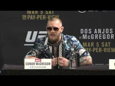 Conor McGregor spits fire at the UFC 197 Pre-Fight Press Conference - 1/20/16 - YouTube