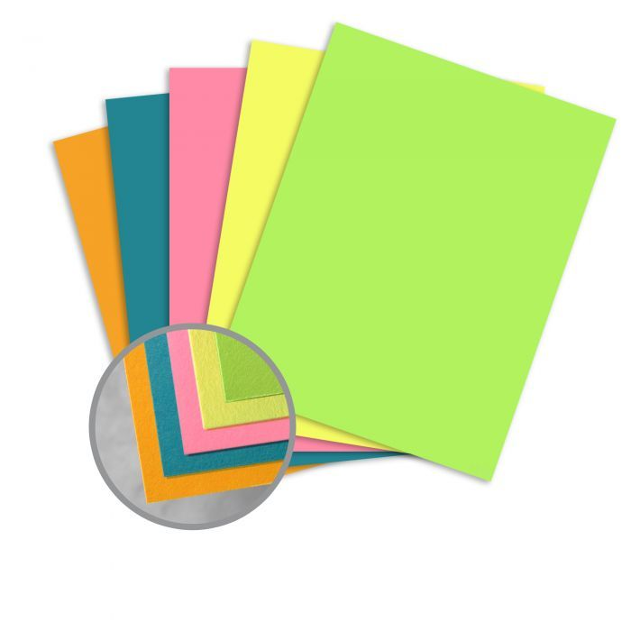 Britehue 5 Assorted Colors Card Stock 8 1 2 X 11 In 65 Lb Cover Semi Vellum 125 Per Package Color Card Card Stock Paper