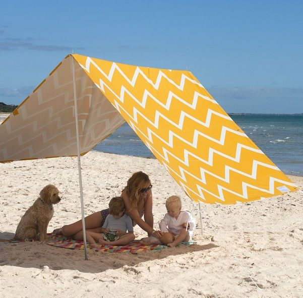 Beach Sombrilla - Chevron Chic - Gorgeous! Love this for picnics in the park too.