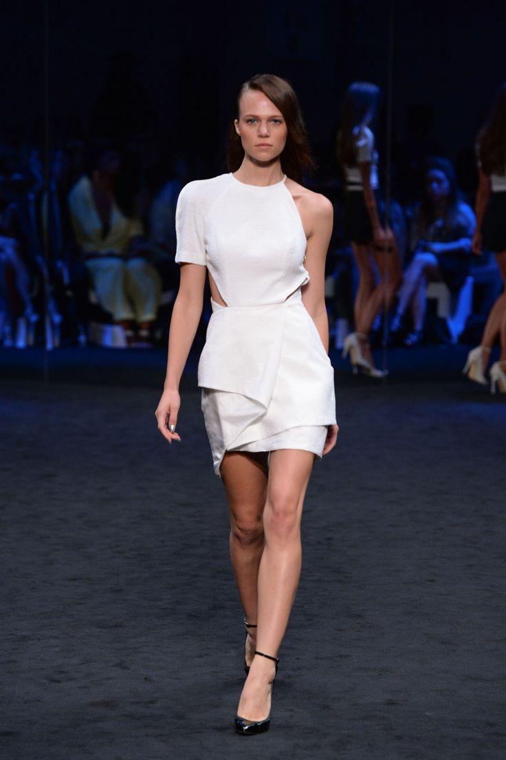 SUBOO. Textured one shoulder dress