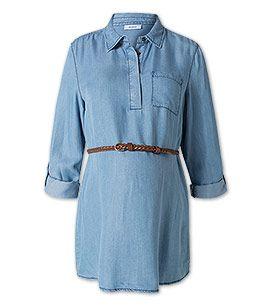 Damen Umstandsbluse aus Denim in jeans-hellblau - Mode günstig online kaufen - C&A