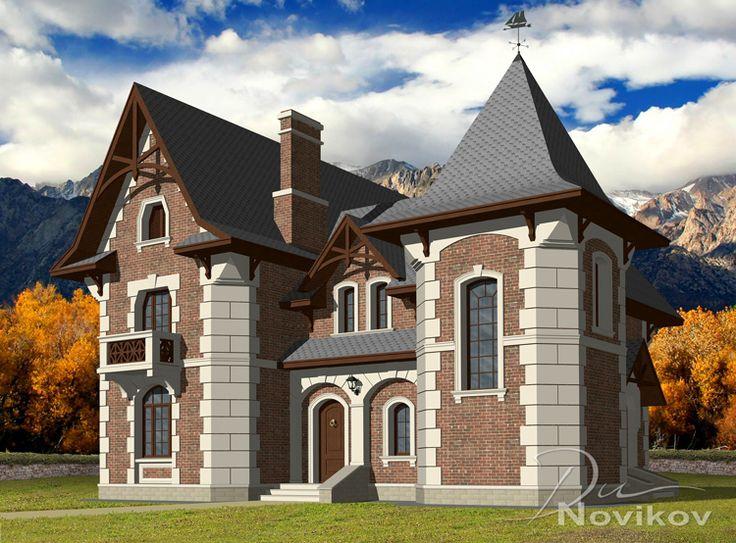 Типовой проект дома в Викторианском стиле