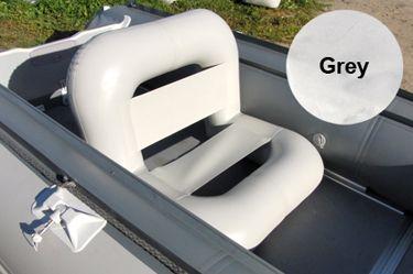 Кресло надувное (97х65х65 см), Grey  Надувное кресло позволит комфортно разместиться в любом удобном месте на борту судна, а так же в лагере у палатки. Регулируя давление воздуха можно изменять угол наклона спинки. Диаметр баллона сидения и спинки разный, таким образом, меняя положение кресла, можно регулировать высоту посадки. Для возможности подбора высоты кресла под различный рост и комплекцию, его спинка и сиденье разной толщины. Переворачивая кресло, можно всегда подобрать наиболее…