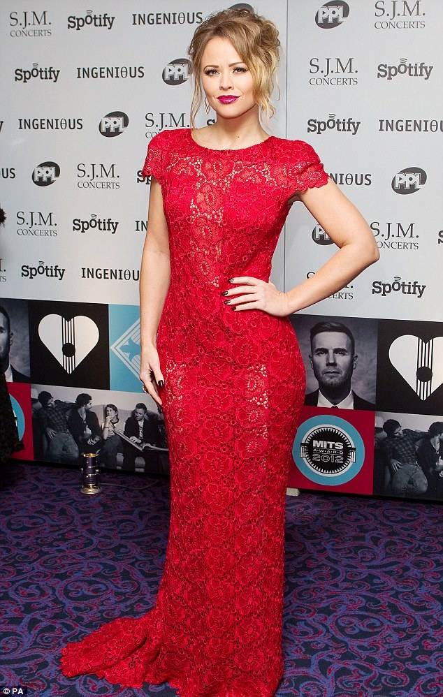 Solo star: Kimberley Walsh, pictured at the Music Industry Trust Awards on Monday night, is recording her solo album