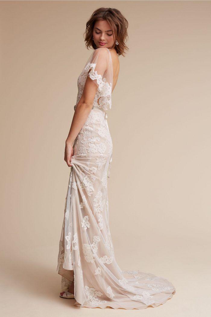 Sierra Wedding Dress Chic Vintage Brides In 2020 Anthropologie Wedding Dress Ivory Wedding Dress Bhldn Wedding Dress