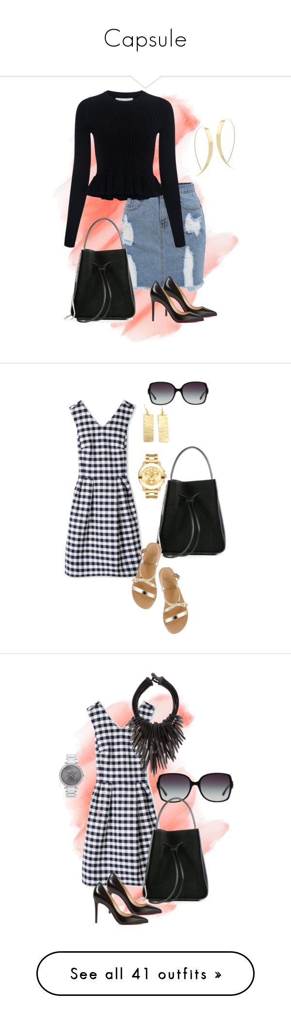 """""""Capsule"""" by tammy-stacey ❤ liked on Polyvore featuring Birchrose + Co., 10 Crosby Derek Lam, Christian Louboutin, Lana, 3.1 Phillip Lim, PS Paul Smith, Ancient Greek Sandals, Movado, Bulgari and Eskandar"""
