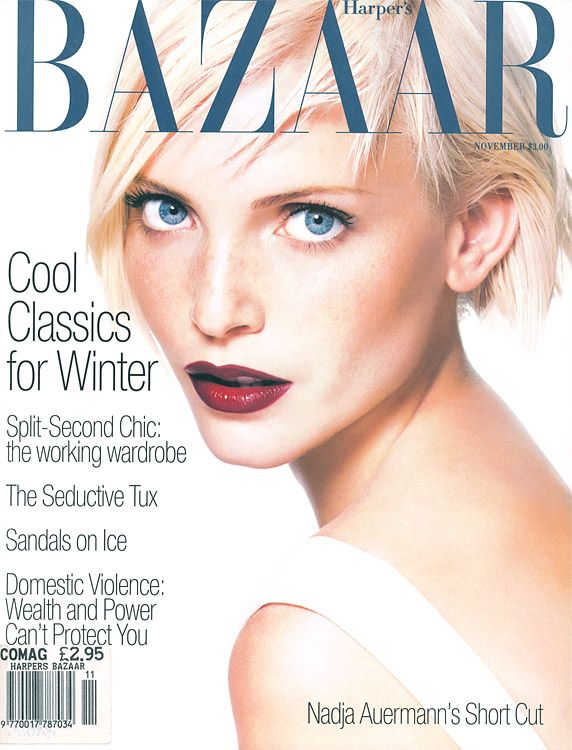 Bazaar November 1994 - Nadja Auermann: Magazine Covers, Fashion, Nadja Auermann, Harpers Bazaar, 90S, Bazaar Covers, Fabulous Covers, Bazaars