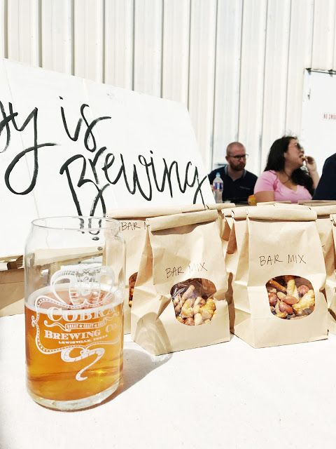 Gender Neutral Baby Boy Girl Shower Sprinkle - Baby is Brewing - Brewery Shower - Beer Theme - Black White - Baby Shower Sign - Party Ideas - Snack Bag Favor Table