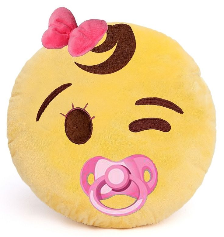 Baby GirlGirl Emoji Plush Throw Pillow