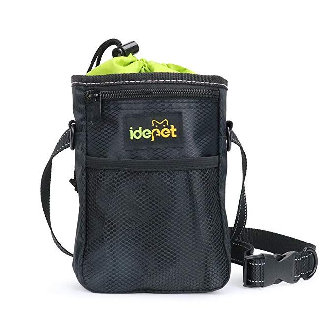 Idepet Dog Treat Training Pouch With Waste Bags Dispenser