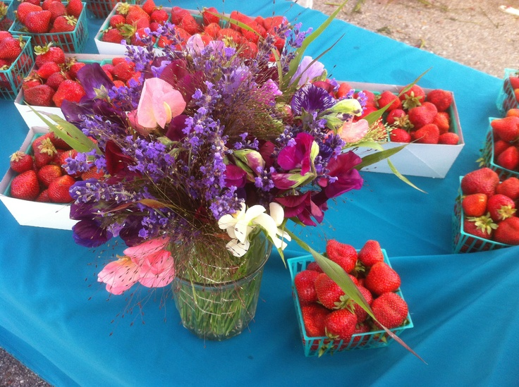 Sweet peas and lavender among early berries
