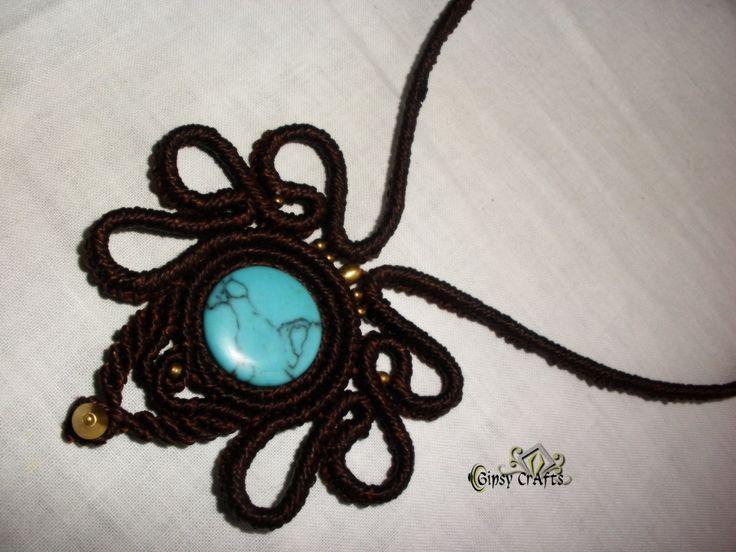 Collar macrame, Handmade macrame necklace, Macrame collier. de GipsyCrafts en Etsy