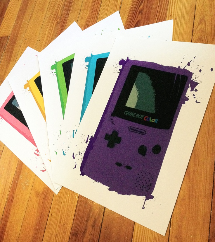 Monster Gameboy Color Prints - choose your favorite flavor. $15.00, via Etsy.