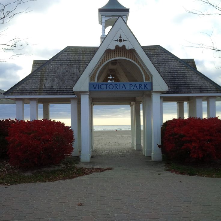 A view to Lake Ontario at the Boardwalk in Cobourg