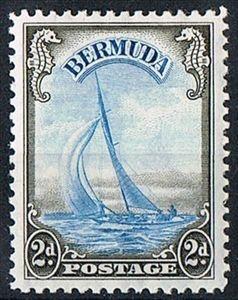 Bermuda Stamp 1938 2d Light Blue and Sepia SG112