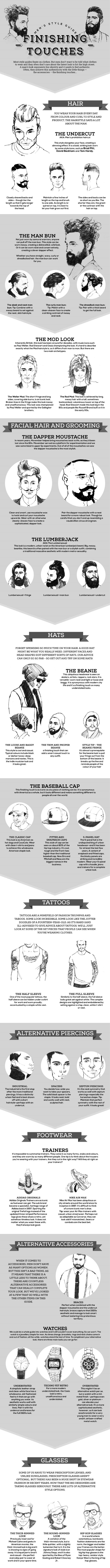 Men's Style Guide Finishing Touches #infographic #Fashion #Lifestyle