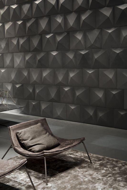 Geometric walls from studiopepe. #interior #design #geometric #walls #grey #decorate