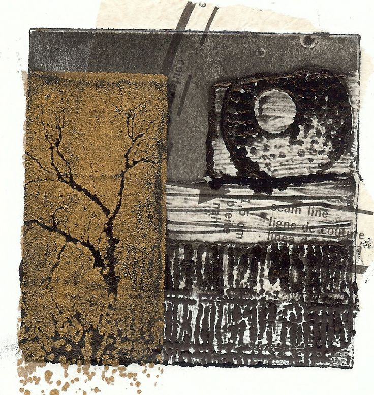 combine collagraph prints with gum arabic transfers Sue Brown did these i like the interactions of the two different ways of printing