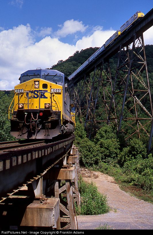 RailPictures.Net Photo: CSXT 449 CSX Transportation (CSXT) GE AC4400CW at Clinchport, Virginia by Franklin Adams