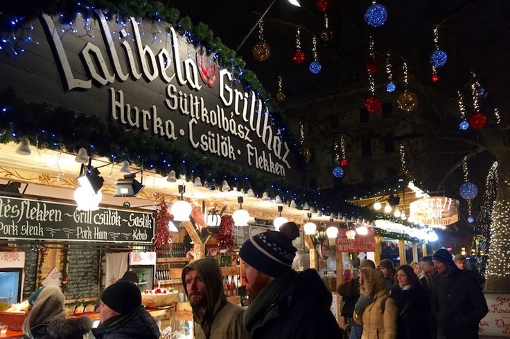 Budapest christmas fayre. Food stalls
