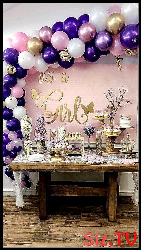 temas para baby shower ni  a 2018 temas para baby  #Baby #niña #para #purple_Ba…