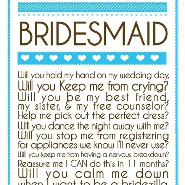 bridesmaid letter wedding pinterest discover the With bridesmaid letter