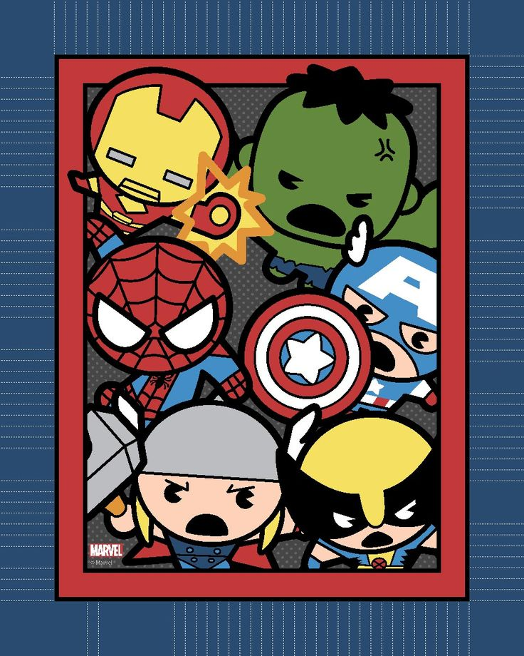 Marvel Kawaii 48'' No Sew Fleece Throw