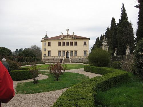 Villa Pisani at Montagnana, built 1570 by Andrea Palladio, Rear view.