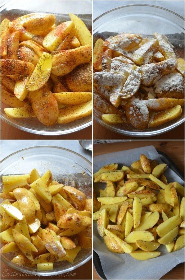 Il y a quelques jours en passant chez Liliane sur son blog La cuisine de Lilly, j'ai repéré vite fait sa recette de frites au four et sa petite astuce. Ma friteuse est sagement rangée au fond de la cave, et je la sors rarement en dehors de la période...