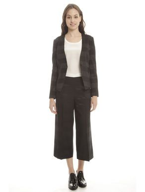 Prezzi e Sconti: #Blazer corto in raso Nero  ad Euro 0.00 in #Carbone #Cappotti e giacche giacconi